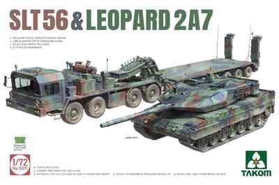 SLT-56 & Leopard-2A7 тягач с танком - 5011 Takom 1:72