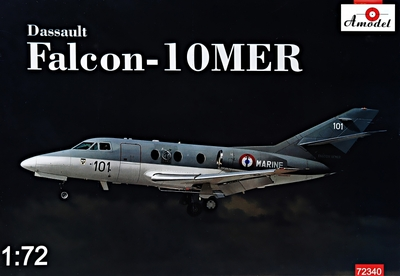 Dassault Falcon-10MER бизнес-джет - 72340 Amodel 1:72