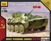 БТР-80. Сборная модель в масштабе 1:100 Hot War <7401 zv>