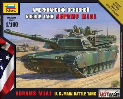 Абрамс А1М1 основной танк - 7405 Звезда 1:100