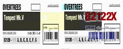 Tempest Mk.V Overtrees истребитель - 82122X Eduard 1:48