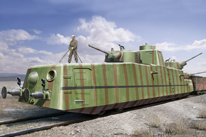 МБВ-2 с пушками Ф-34 (MBV-2 F-34 Gun) мотоброневагон - 85515 HobbyBoss 1:35
