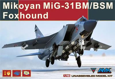 МиГ-31БМ/БСМ (Foxhound) истребитель-перехватчик - 88003 AMK 1:48