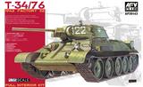 Т-34-76 танк завод №112 с полным интерьером - AF35143 AFV Club 1:35