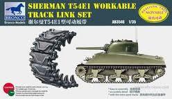 Sherman T54E1 подвижные траки - AB3546 Bronco 1:35