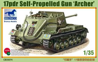 SP 17pdr Valentine Mk I Archer( САУ Арчер). CB35074 Bronco 1:35