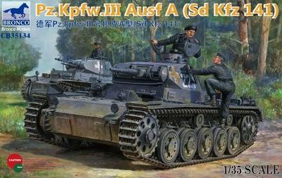 Pz.Kpw. III Ausf.A (Sd.Kfz. 141) средний танк. CB35134 Bronco 1:35