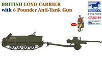 Loyd Carrier с QF 6-pdr тягач с орудием - CB35189 Bronco 1:35