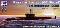Юрий Долгорукий РПКСН проекта 955 Борей - NB5022 Bronco 1:350