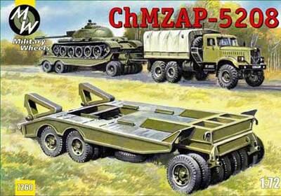 Танковый трейлер ЧМЗАП-5208. Масштаб 1/72