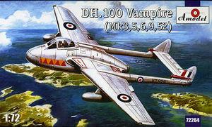 DH.100 Vampire Mk.3 - 72264 Amodel 1:72