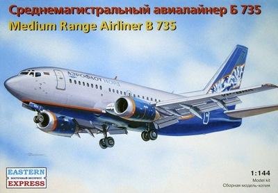 Б-737-500 Авиалайнер Аэрофлот-Норд (B735 Aeroflot-Nord) - 14420 Восточный Экспресс 1:144
