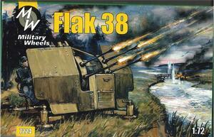 Немецкая зенитная пушка FlaK 38. Масштаб 1/72