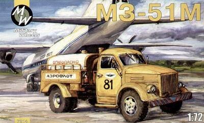 Автомобиль ГАЗ МЗ - 51 Запращик. Масштаб 1/72