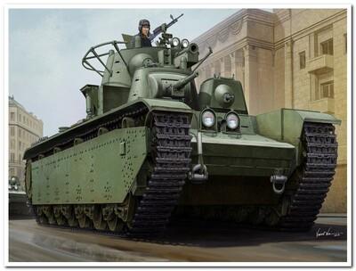 Т-35 многобашенный тяжелый танк обр. 1938-39 г - 83843 Hobby Boss 1:35