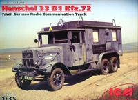 Henschel 33D1 Kfz.72 немецкая машина связи - 35467 ICM 1:35