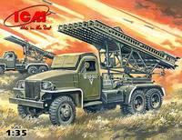 БМ 13-16 РСЗО на шасси Studebaker US6. 35512 ICM 1:35
