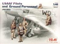 Пилоты и техники USAF (1941-1945 г.). 48083 ICM 1:48