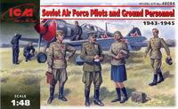 Пилоты и техники ВВС Красной Армии. 48084 ICM 1:48