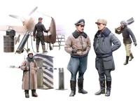 Пилоты и техники Люфтваффе зимний вариант. 48086 ICM 1:48