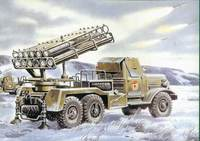 БM-24-12 РСЗО на базе Зил-157 - 72591 ICM 1:72