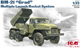 БМ-21 Град РСЗО на базе Урал - 72714 ICM 1:72