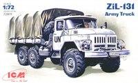 Зил-131 армейский грузовой автомобиль. 72811 ICM 1:72