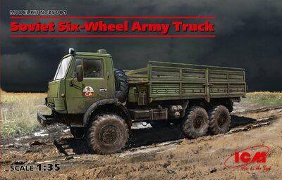 Советский шестиколесный армейский грузовой автомобиль - 35001 ICM 1:35