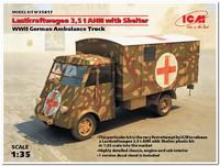 Lastkraftwagen 3.5 AHN санитарная машина Вермахта - 35417 ICM 1:35