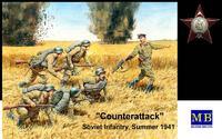 Контратака. Советская пехота лето 1941. MB3563 Masterbox 1:35