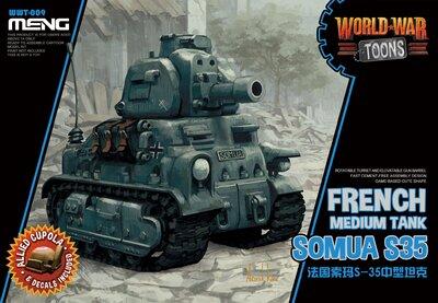WW Toons Somua S35 French Medium Tank - WWT-009 Meng Egg