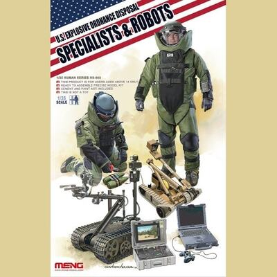 US Explosive Ordnance Disposal Specialists & Robots - HS-003 Meng 1:35
