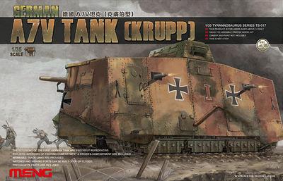 German A7V Tank (Krupp) - TS-017 Meng 1:35