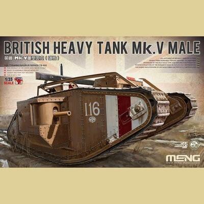 British Heavy Tank Mk.V Male - TS-020 Meng 1:35
