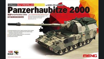 German Self-Propeled Howitzer w/Add-On Armor Panzerhaubitze 2000 - TS-019 Meng 1:35