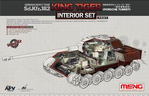 Интерьер для Т-VIВ Королевский Тигр (Sd.Kfz.182 Porsche Turret) с башней Порше. SPS-062 Meng 1:35