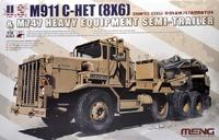 Ошкош М911 тягач с полуприцепом М747. SS-013 Meng 1:35