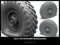 ГАЗ-66 набор спущенных колес 2 шт - B35122 Miniarm 1:35