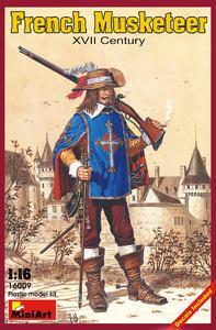 Французский мушкетер XVII век - 16009 MiniArt 1:16