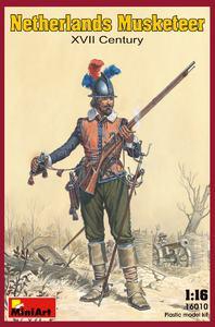 Нидерландский мушкетер XVII век - 16010 MiniArt 1:16