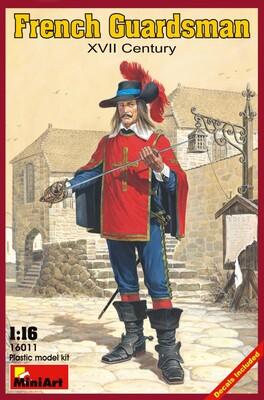 Французский гвардеец XVII век - 16011 MiniArt 1:16