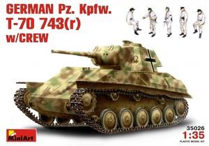 T-70M танк с немецким экипажем - 35026 MiniArt 1:35