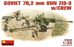ЗиС-3 76-мм дивизионная пушка с расчетом - 35032 MiniArt 1:35