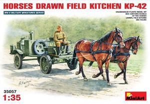 КП-42 полевая кухня с лошадьми на конной тяге - 35057 MiniArt 1:35