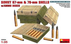 Советские 57-мм и 76-мм снаряды с ящиками - 35064 MiniArt 1:35