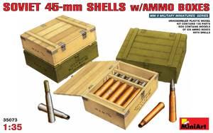 Советские 45-мм снаряды с ящиками - 35073 MiniArt 1:35