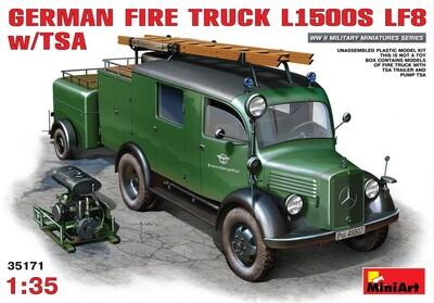 L1500S LF8 пожарный автомобиль с прицепом и помпой - 35171 MiniArt 1:35