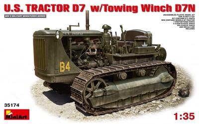 D7 американский армейский трактор с буксирной лебедкой - 35174 MiniArt 1:35