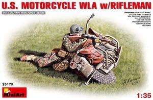 Американский стрелок с мотоциклом - 35179 MiniArt 1:35