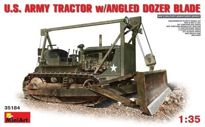 D7 американский армейский бульдозер угловым отвалом - 35184 MiniArt 1:35